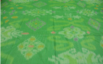 Kain tenun ikat obama hijau