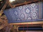 Kain tenun ikat motif saraswati bali biru tua New
