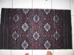 Kain tenun ikat motif Denpasar Bali Hitam